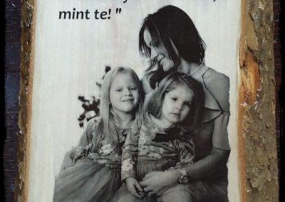 Anyák napja, fotótranszfer, platán fa, A4-es méret
